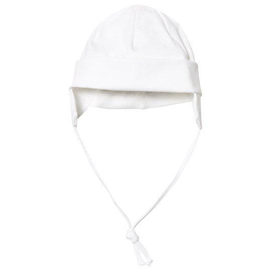 Maximo Lue Baby Hat White with Ear Flaps Hvit