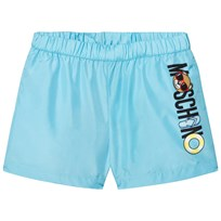 Moschino Kid-Teen Green Bear Print Swim Shorts 40386