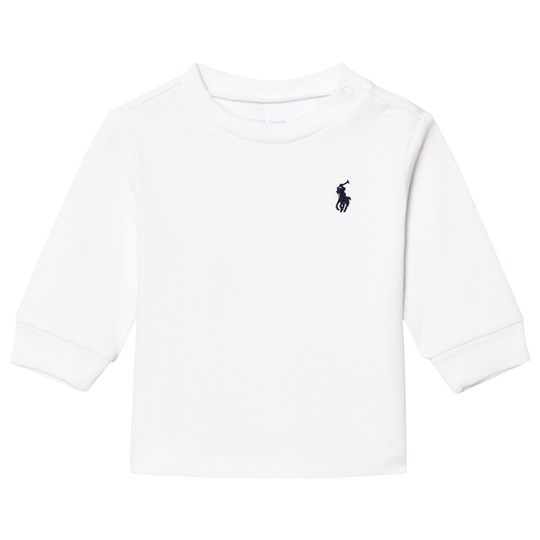 Ralph Lauren White Long Sleeve Tee with Small PP 001