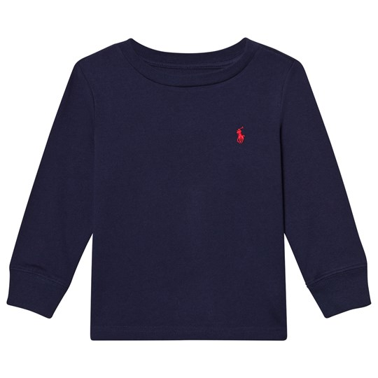 Ralph Lauren Navy Long Sleeve Tee with Small PP 002