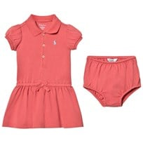 Ralph Lauren Salmon Berry Cotton Polo Dress & Bloomer 003