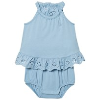 Ralph Lauren Lightweight Cotton Romper Blue 002
