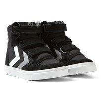 Hummel Stadil Canvas High Jr Black Black