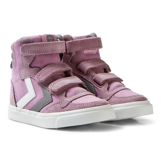Hummel Stadil Canvas High Jr Orchid Hace Orchid Hace
