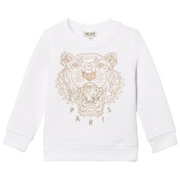 Kenzo White and Gold Embroidered Sweatshirt 01