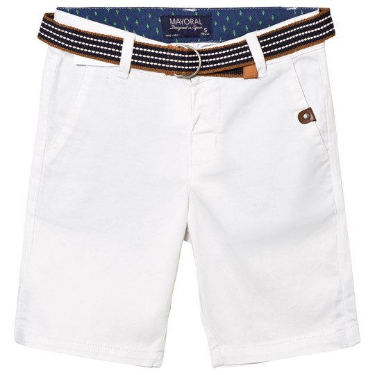 Mayoral White Cord Shorts Belt 49
