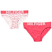 Tommy Hilfiger 2 Pack Pink White Branded Briefs 902