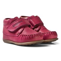 Bisgaard Prewalker Leather Shoes with Velcro Pink 4002 Pink