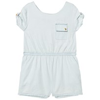 Kardashian Kids Chambray Romper Light Blue