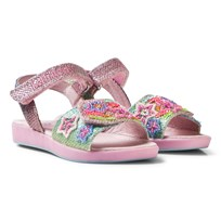 Lelli Kelly Pink Beaded Rainbow Star Sandals MULTI GLITTER