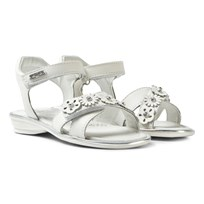 Lelli Kelly White Grace Leather Flower Sandals White