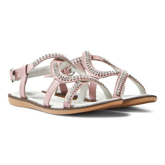 Lelli Kelly Pink Doroty Leather Diamante Sandals Pink