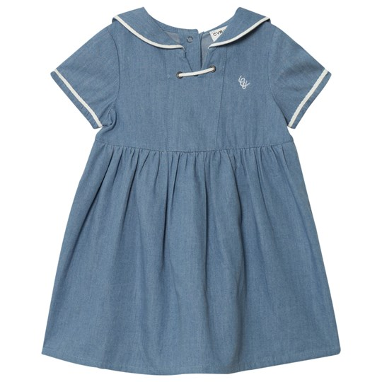 Cyrillus Blue Chambray Sailor Dress Blue