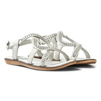 Lelli Kelly White Doroty Leather Diamante Sandals White