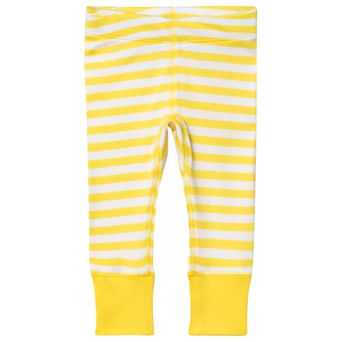 Anive For The Minors Baby Leggings Happy Yellow White Stripes Babyshop Com
