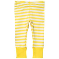 Anïve For The Minors Baby Leggings Happy Randig Gul Vit Yellow/White Stripes