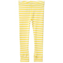 Anïve For The Minors Leggings Happy Randig Gul Vit Yellow/White Stripes