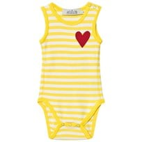 Anïve For The Minors Baby Body Happy Yellow/White Stripes Yellow/White Stripes