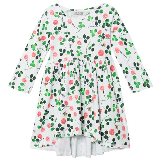 Anïve For The Minors Long Sleeved Dress Clover White/Multi White/multi