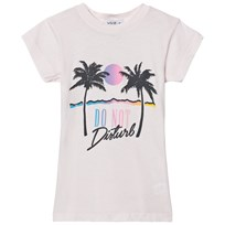 Wildfox Pink Do No Disturb Print Tee Seashell Pink