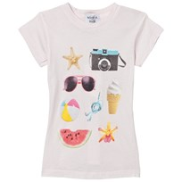 Wildfox Pink Beach Essentials Print Tee Seashell Pink