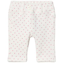 United Colors of Benetton White With Pink Dotts Trousers White