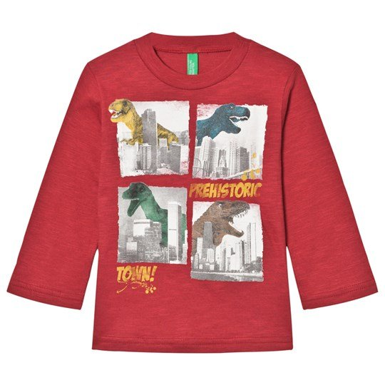 United Colors of Benetton Red Long Sleeve T-Shirt Red