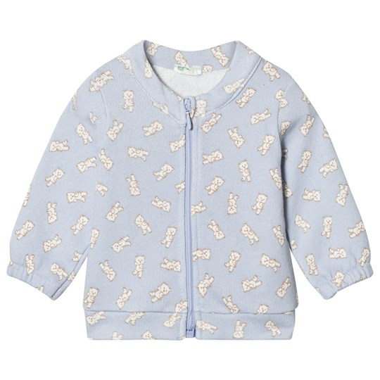 United Colors of Benetton Lightblue Sweatshirt With Bears Blue