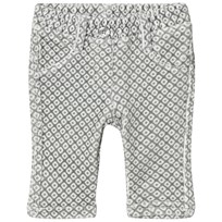 United Colors of Benetton Grey/White Trousers Black