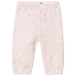United Colors of Benetton Pink Trousers with White Teddybears