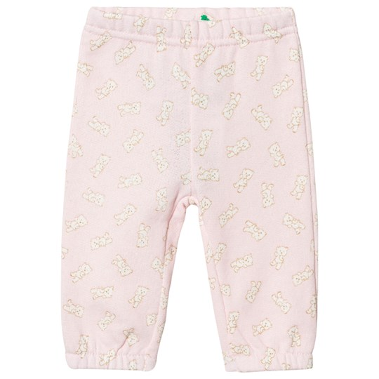 United Colors of Benetton Pink Trousers with White Teddybears Pink