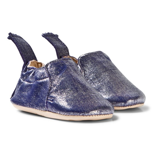 Easy Peasy Navy Shimmer Blumoo Crib Shoes 248