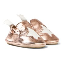 Easy Peasy Metallic Pink Blublu Slipper Shoes 432