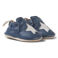 Easy Peasy Navy Star Leather BluBlu Anti Slip Shoes 526