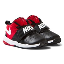 NIKE Black and Red Team Hustle Infants Trainers BLACK/WHITE-UNIVERSITY RED