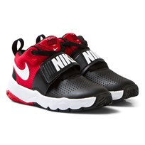 NIKE Black and Red Team Hustle Kids Trainers BLACK/WHITE-UNIVERSITY RED