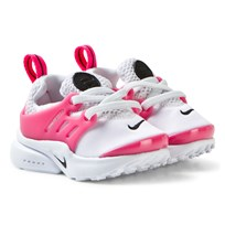 NIKE White and Pink Infants Little Presto Trainers WHITE/BLACK-HYPER PINK