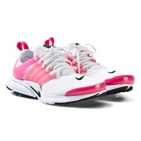 NIKE White and Pink Junior Presto Trainers WHITE/BLACK-HYPER PINK
