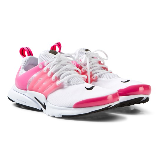 NIKE Presto Junior Sneakers in White/Hyper Pink WHITE/BLACK-HYPER PINK