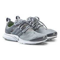 NIKE Grey Presto Junior Trainers WOLF GREY/COOL GREY-WHITE-VOLT