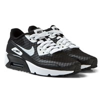 NIKE Black and White Air Max 90 Ultra 2.0 Junior Trainers Musta