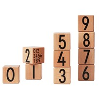 Design Letters Wooden Cubes Natural Beige