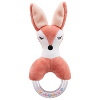 Kids Concept Fox Character Teething Rattle BROWN