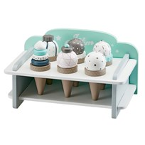 Kids Concept Kids Wooden Ice Cream Bar Set With Stand Multi