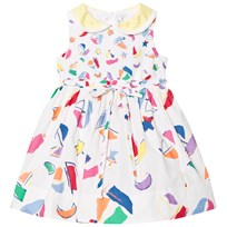 Simonetta Sailing Print Cotton Dress GG540 100FU