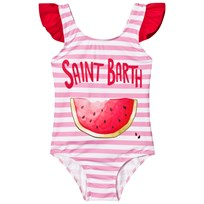MC2 St Barth Watermelon Frill Swimsuit Lubis