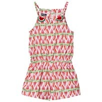 MC2 St Barth Watermelon Allover Print Romper Melony