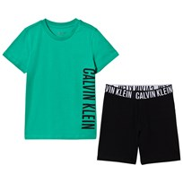 Calvin Klein Green and Black Branded Pyjamas 061
