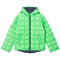 United Colors of Benetton Neon Green Puffer Jacket Green