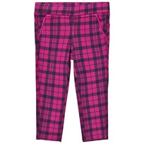 United Colors of Benetton Cerise and Black Plaid Trousers Red